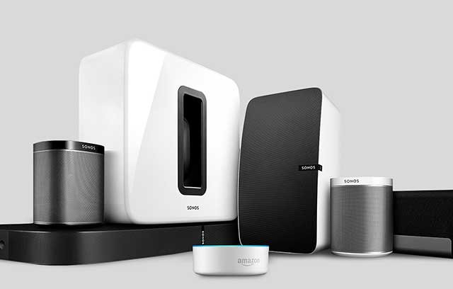 Sonos speakers grouping with Alexa