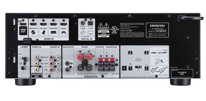 Onkyo TX SR373 52 Channel AV Receiver